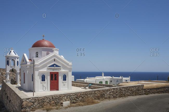 Traditional church under blue sky