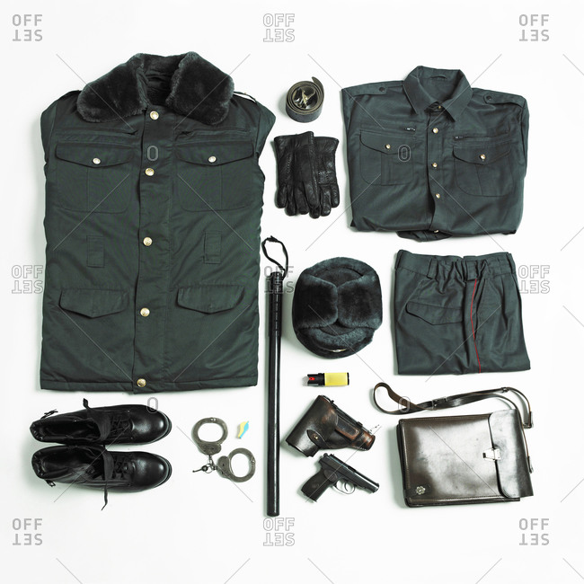 Military uniform for cold weather and equipment