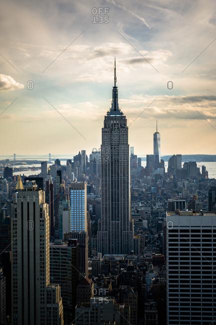 USA, New York City, Manhattan view to Empire State Building