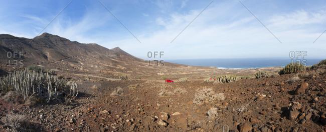 Spain, Canary Islands, Fuerteventura, road to Cofete