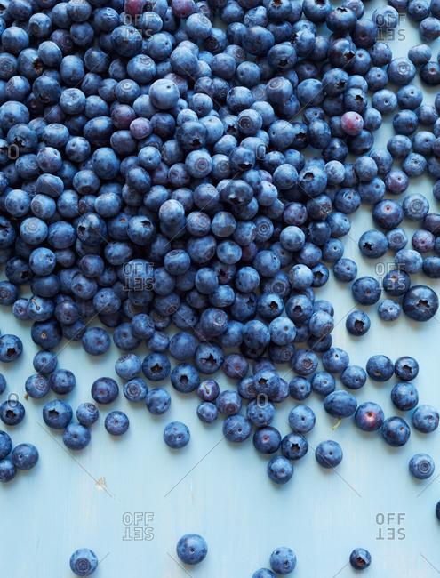 Fresh picked blueberries