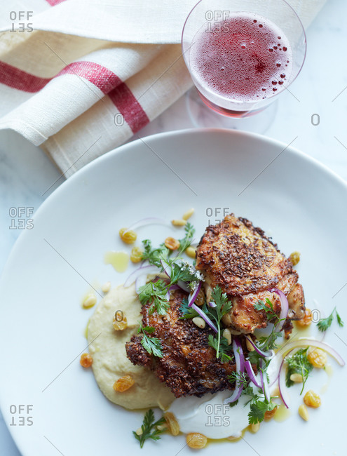 Chicken thighs with cilantro