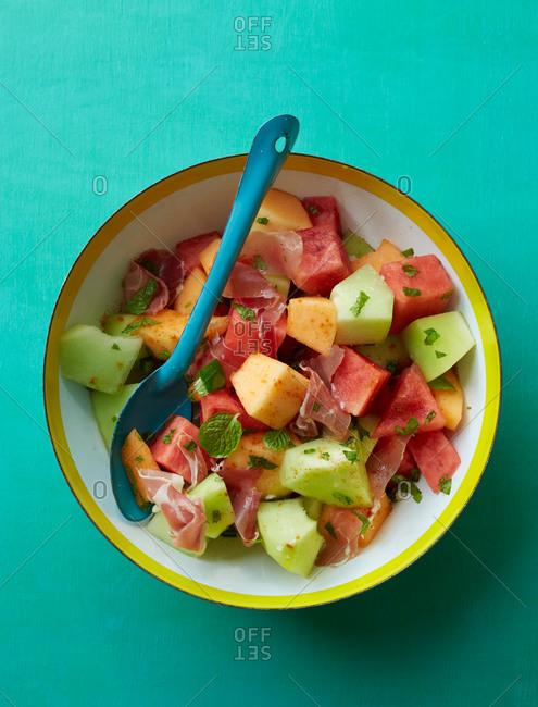 Triple melon salad