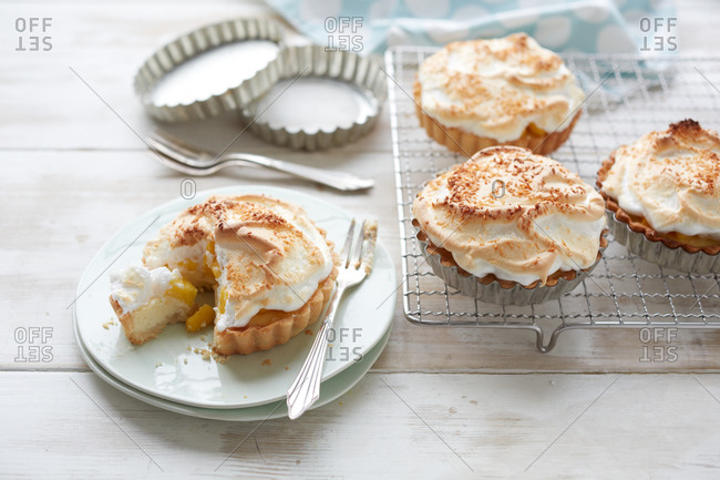 Mango and custard pies