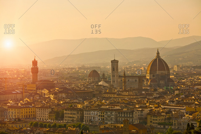 Cityscape with Florence cathedral, Florence, Tuscany, Italy