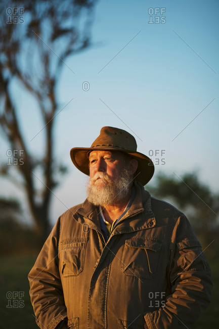 Portrait of farmer outdoors