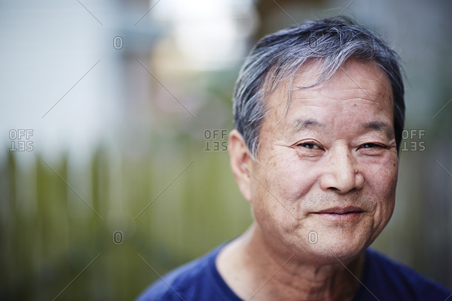 Portrait of a middle-aged Asian man