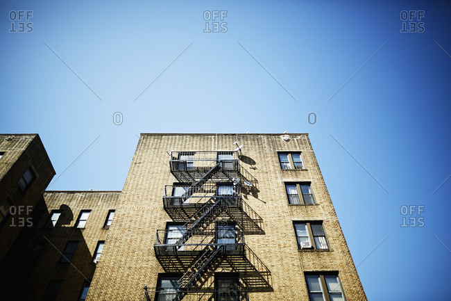 Fire escape on a building
