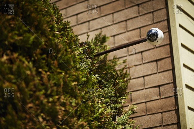 Security camera outside of a building