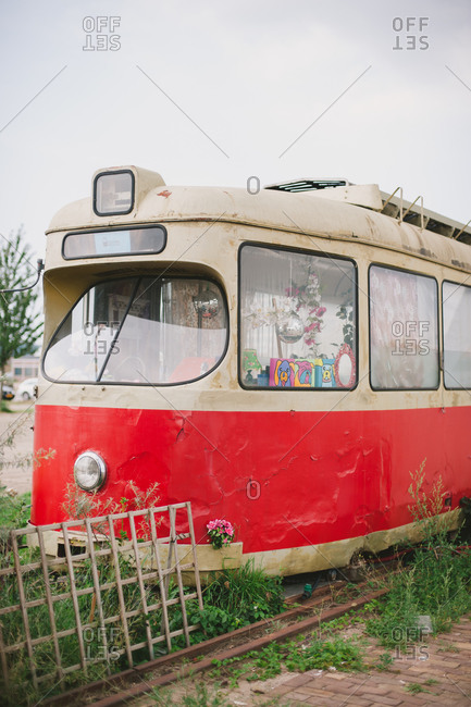 July 31, 2014: Old streetcar, Amsterdam
