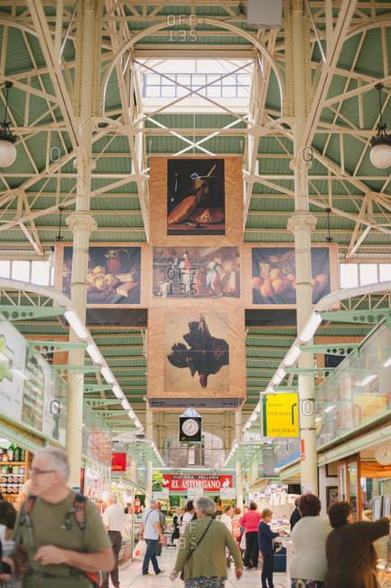 August 22, 2014: An indoor market hall