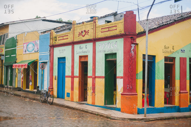 November 4, 2014: Brightly painted building, Brazil