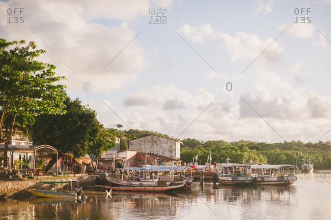 November 4, 2014: Boats along Brazilian shore
