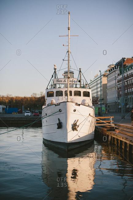 April 24, 2014: Ship at shore in Finland
