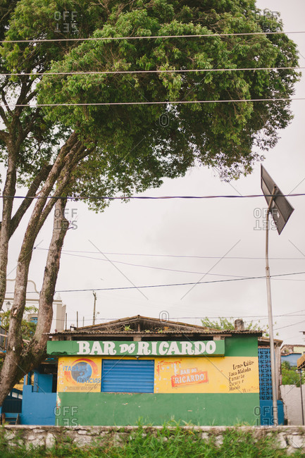 October 29, 2014: Small bar exterior in Brazil