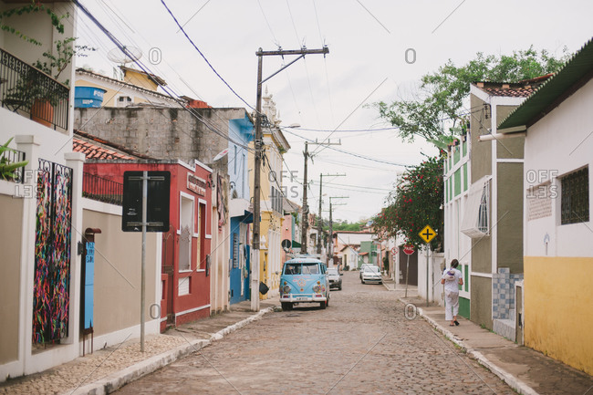 October 29, 2014: Street in small Brazilian town