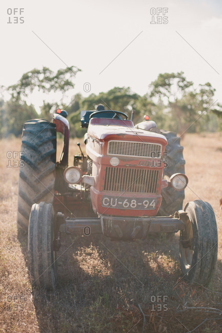 July 21, 2014: A tractor in rural Portugal