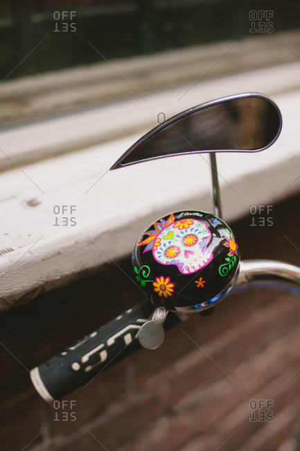 Bell and mirror on bike