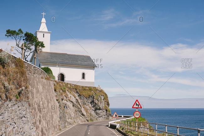 Church along Spanish coast