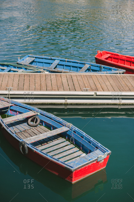 Boats by a dock