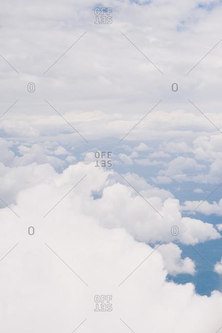 A cloudscape and blue sky