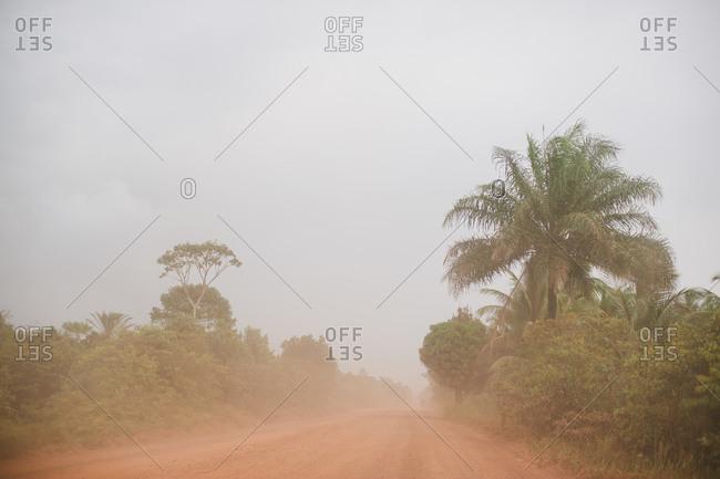 A dusty road in Brazil