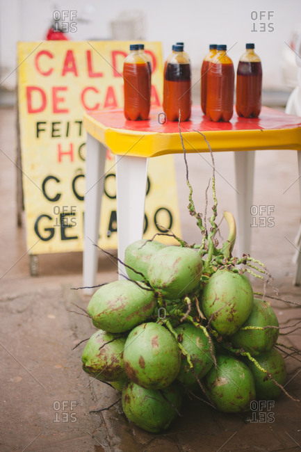 Coconuts and drink bottles, Brazil