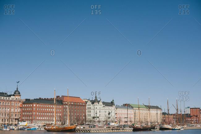 Buildings along seafront, Helsinki, Finland