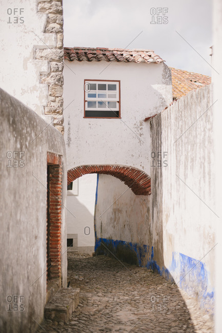 Lane in a Portuguese town