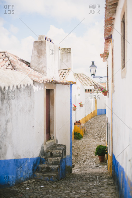 Small street in Portuguese town