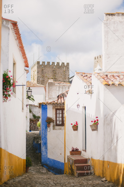 Small lane in Portuguese town
