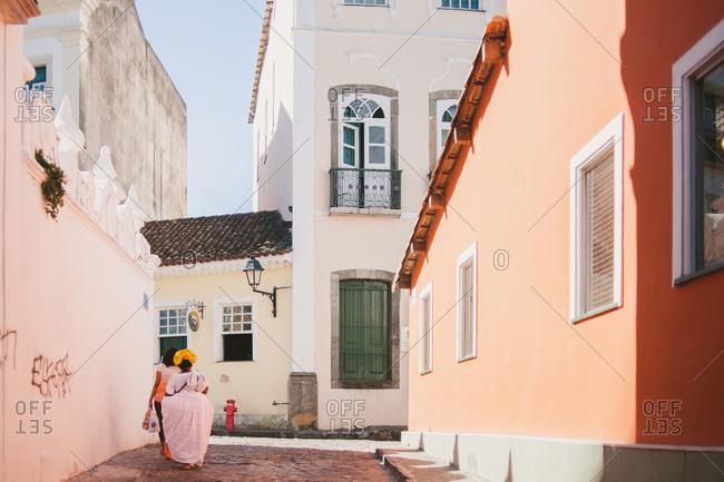 Women in a street in Brazil