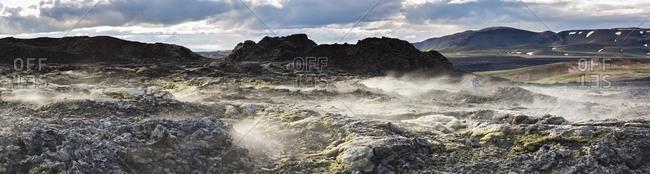 Leirhnjukul lava fields in Krafla Caldera, Iceland