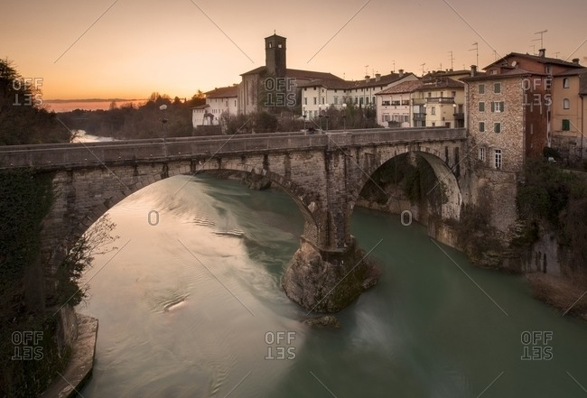 Cividale del Friuli ,located at the foot of the Eastern Friuli hills, on the banks of the Natisone river, Italy