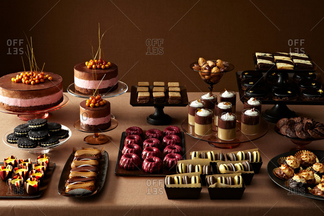 A buffet of assorted desserts