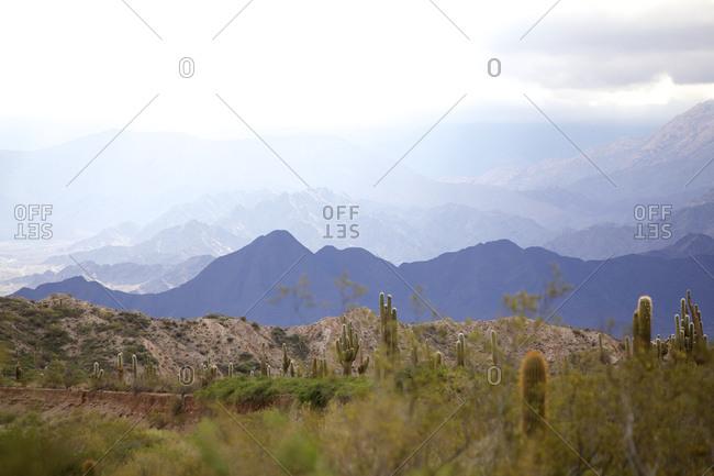 Mountain view of Parque National Los Cardones, Salta, Argentina