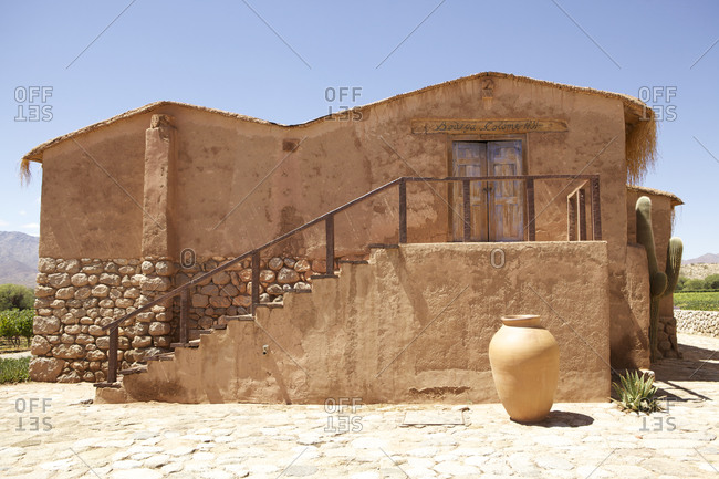 A traditional clay building in Colome, Argentina