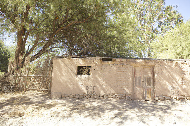 Traditional clay house in Salta, Argentina
