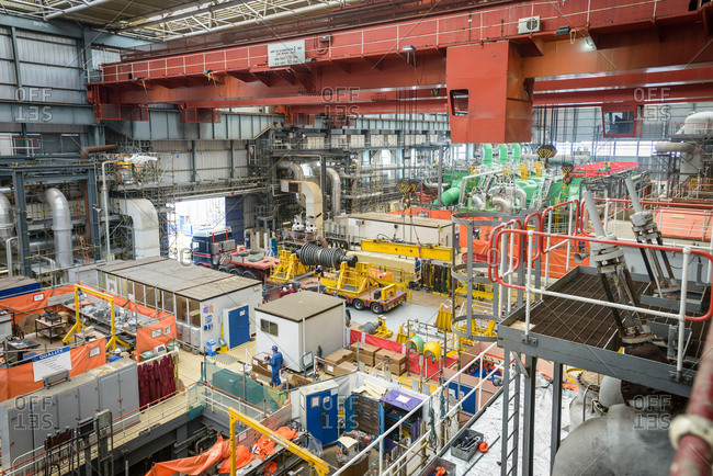 Turbine hall in repair during power station outage