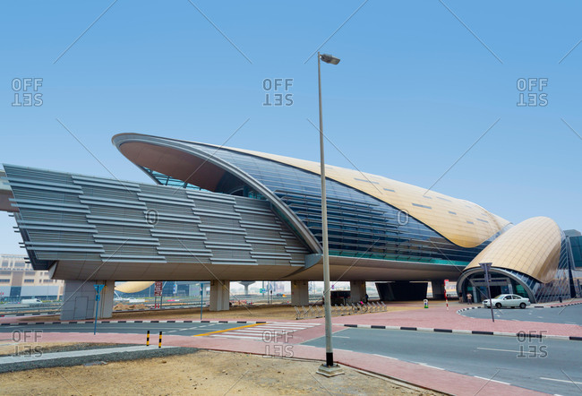 Downtown Dubai Metro Station at daytime, United Arab Emirates