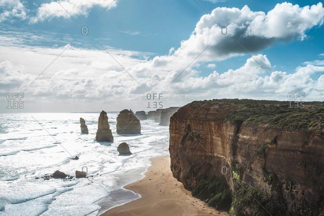The Twelve Apostles at Port Campbell National Park, Victoria, Australia