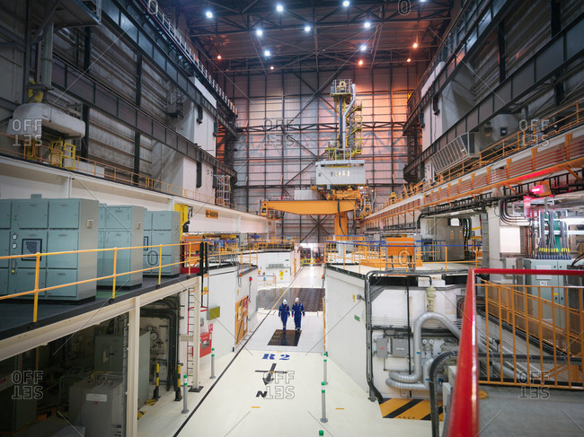 Interior view of reactor hall in nuclear power station
