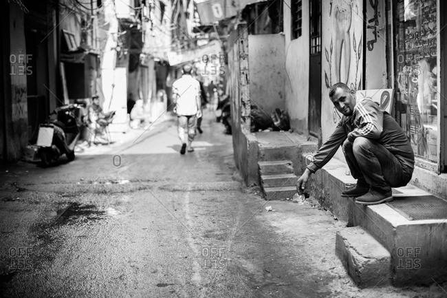 Beirut, Lebanon - November 6, 2015: Street scene in Beirut