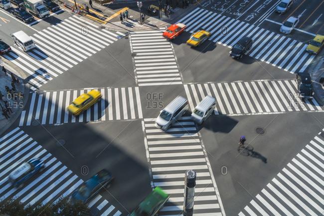 Sukiyabashi pedestrian crossing, Ginza, Tokyo, Japan