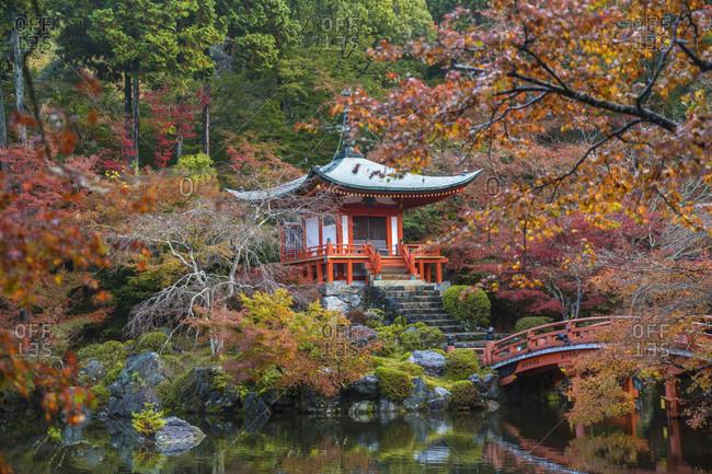 Bentendo Temple located within the Daigo-ji temple area, Kyoto, Japan