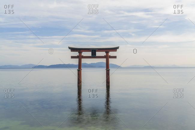 Torii Gate, Lake Biwa, Takashima, Shiga, Japan