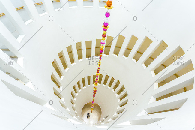Seoul, South Korea - November 26, 2015: Spiral staircase, Leeum, Samsung Museum of Art in Seoul, South Korea