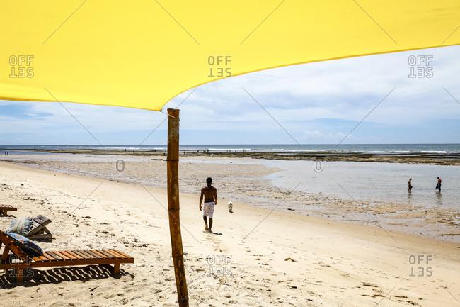 People at Parracho Beach in Arraial d'Ajuda, Bahia, Brazil