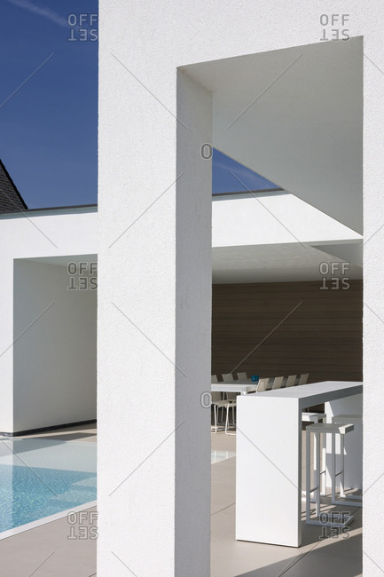 Temse, Belgium - May 5, 2014: A modern house in Temse, Belgium