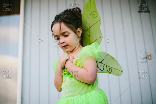 Girl dressed in a fairy costume